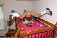 Teen schoolgirls spreading their legs