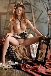 Russian beauty Ruzanna nude spreading